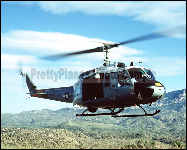US MARINE CORPS USMC UH-1N Iroquois helicopter DD 8X12 PHOTOGRAPH